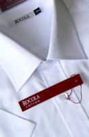 Rocola - Easycare white short sleeve cotton shirt
