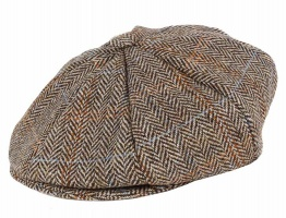 Dents - Harris Tweed 8 piece cap grouse