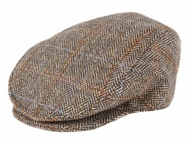 Dents - Harris Tweed flat cap grouse