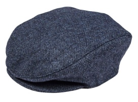 Dents - Abraham Moon Yorkshire Tweed Flat Cap Denim