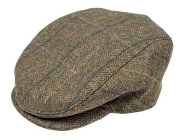 Dents - Abraham Moon Yorkshire Tweed Flat Cap Hunter