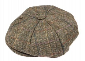 Dents - Abraham Moon Yorkshire Tweed 8 Piece Cap Hunter