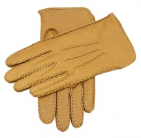 Dents - Men's Silk Lined Peccary Leather Gloves Cork