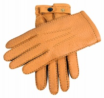 Dents Hampton - Men's Handsewn Cashmere Lined Peccary Leather Gloves Cork