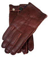 Dents Hampton - Men's Handsewn Cashmere Lined Peccary Leather Gloves Kirsch