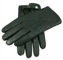 Dents Hampton - Men's Handsewn Cashmere Lined Peccary Leather Gloves Hunter Green