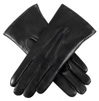 Dents - Ripley Ladies Fur Lined Hairsheep Leather Gloves Black