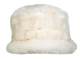 Dents - Faux Fur Hat with Elasticated Detail Winter White