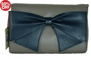 Dents - Mini Flapover Cross Body Bag Charcoal Navy