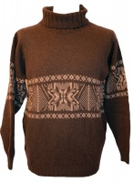 Peter Scott - Mens lambswool nordic roll collar pullover