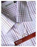 Rocola - Easycare red square check cotton shirt