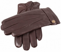 Dents - Fur lined hairsheep leather gloves brown