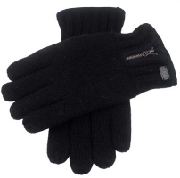 Dents - Thinsulate knitted glove with zip detail black