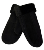Dents - Alice Women's Suede Mittens Black