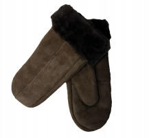 Dents - Alice Women's Suede Mittens Brown
