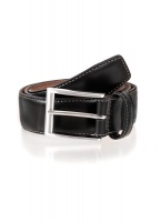 Dents - Full grain leather belt black