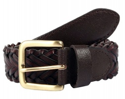 Dents - Plaited leather single keeper belt