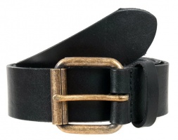 Dents - Casual Waxed Leather Belt Black
