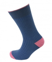 Viyella Mens Short Wool Contrast Heel and Toe Socks