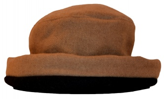 James Wool Cashmere Cloche Camel Black