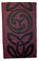 James Pure Wool Celtic Swirl Reversible Scarf Grey Rose