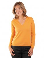 William Lockie - Charlotte 1ply Cashmere V neck pullover