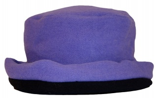 James Wool Cashmere Cloche Lilac Navy