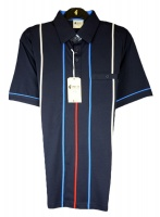 Gabicci - Polo shirt with stripes and sleeve end piping