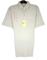 Gabicci - Plain polo shirt with diamond pattern