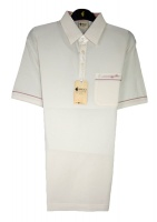 Gabicci - Ecru polo shirt with piping detail