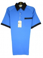 Gabicci - Marine polo shirt with contrast collar and sleeve ends