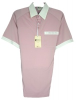 Gabicci - Old Rose polo shirt with contrast collar and sleeve ends