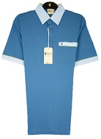 Gabicci - Riviera polo shirt with contrast collar and sleeve end
