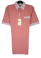 Gabicci - Plain polo shirt with contrast collar sleeve ends and piping detail