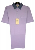 Gabicci - Lilac polo shirt with contrast collar