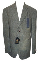 Gurteen Pentlow Harris Tweed Jacket green blue fleck