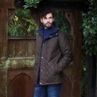 Jack Murphy - Dara Quilted Waxed Jacket Rich Brown