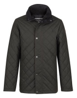 Jack Murphy - Dara Quilted Waxed Jacket Heritage Olive
