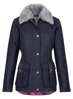 Jack Murphy - Charlize Quilted Waxed Jacket Heritage Navy