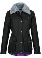 Jack Murphy - Charlize Quilted Waxed Jacket Olive