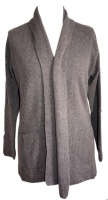 Johnstons - Ladies cashmere 2ply shawl collar cardigan driftwood