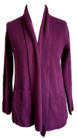 Johnstons - Ladies cashmere 2ply shawl collar cardigan beetroot