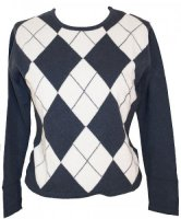 Johnstons - Cashmere argyle crew neck pullover