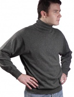 William Lockie - Oxton 1ply cashmere roll collar