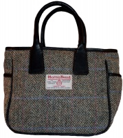 James Sienna Handheld Harris Tweed Bag Pastel Check