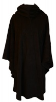 James Wool Cashmere Cape Black