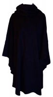 James Wool Cashmere Cape Navy