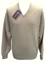 William Lockie Mens Camelhair v neck pullover blonde