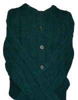 Westaway - Childrens shetland crew neck cable cardigan