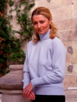 Westaway - 1ply Cashmere roll collar pullover